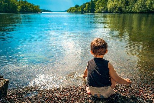 Child, Boy, Lake, Water, Playing, Toddler, Kid, Little