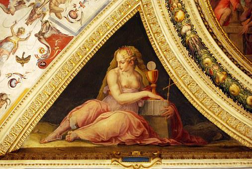 Goddess, Painting, Art, Ceiling, Particular, Palazzo