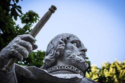 Sculpture, Stone, Parque Del Retiro, Kings