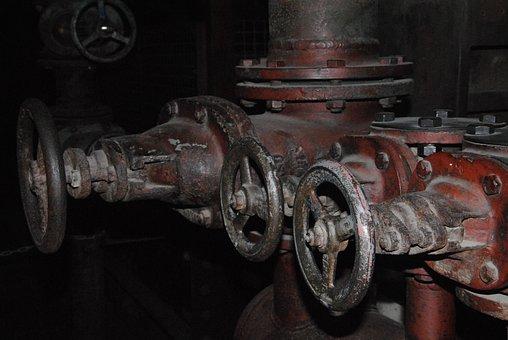 Pipeline, Valve, Retro, Old, Adjusting Screw, Pipes