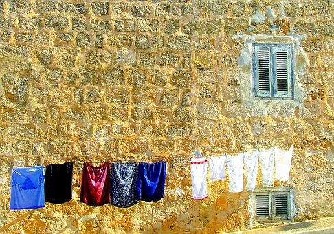 Washing Day, Washing, Mediterranean Scene