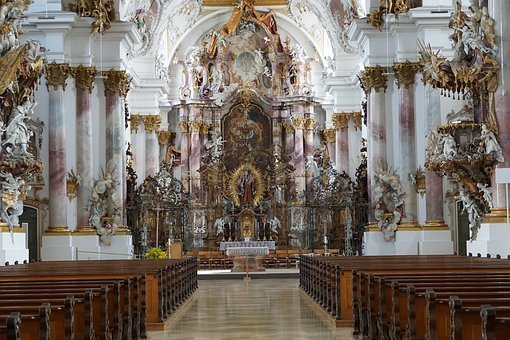 Church, Zwiefalten, Baroque, Faith, God, Münster