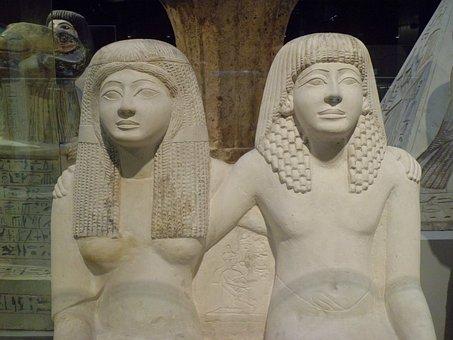 Egyptian Museum, Torino, Egyptian Statues