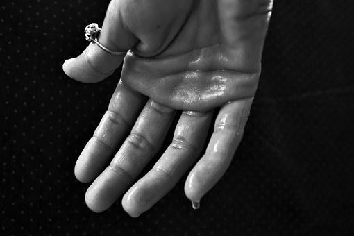 Hand, Hyperhidrosis, Sweating, Sweat Glands, Outburst