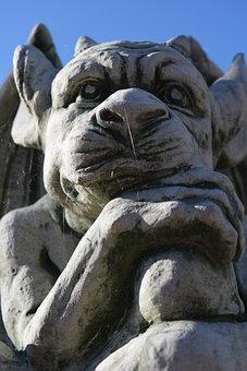 Gargoyle, Fig, Mythical, Creature, Statue