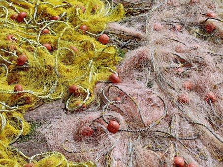 Fishing, Nets, Tangled, Fishnet, Equipment, Fishing-net