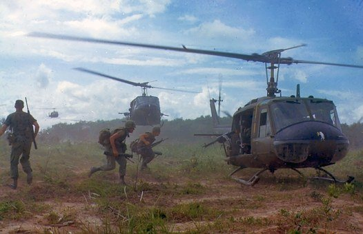 Military, Vietnam War, Soldiers, Helicopters, Dust