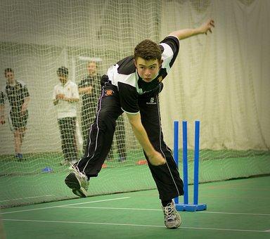 Cricket, Indoor, Sports Hall, Nets, Bowler, Sport
