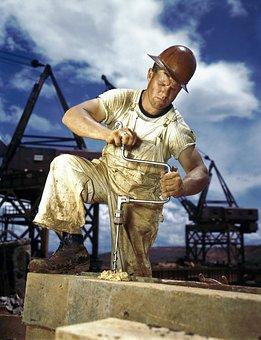 Zimmermann, Workers, Drill, Drilling, Work, Hard Work