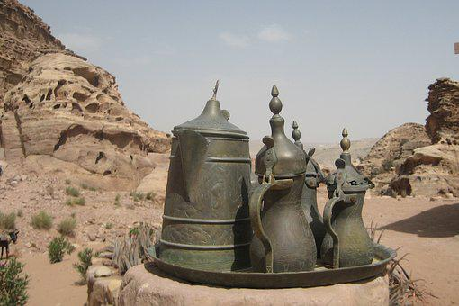 Petra, Jordan, Kettles, Desert