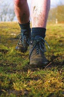 Boots, Mud, Walking, Walking Boots, Outdoors, Hike