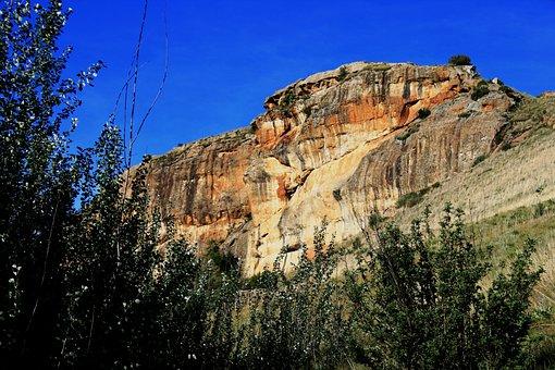 Rock, Hill, Rockface, Sheer, Orange, Earthy, Slope