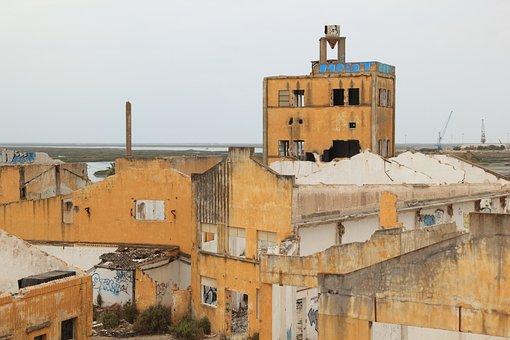 Portugal, Faro, Abandoned, Factory, Complex, Ruin