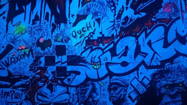 Graffiti, Bathroom, Montreal, Quebec, Room, Drawing