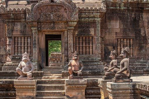 Siem Rap, Cambodia, Banteay Srei, Temple