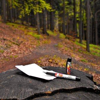 Pen, Card, Writing, Text, Way, Blog, Landscape, Tree