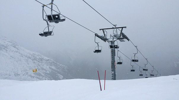 Ski Lift, Fog, Cable Car, Chairlift, Skiing
