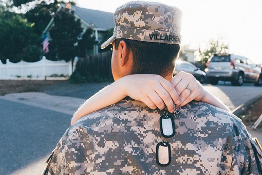 Military, Camouflage, Family, Life, Scene, Dog Tags