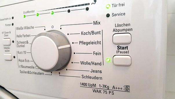 Washing Machine, White, Easy To Clean, Cleanliness