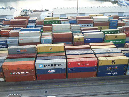 Port, Container, Colorful, Shipping, Cargo