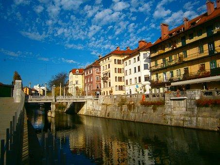 Ljubljana, Slovenia, Ljubljanica River, City