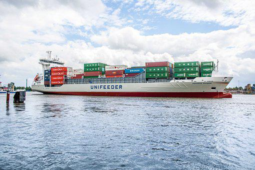 Ship, Water, Boot, Sea, Port, Shipping, Container