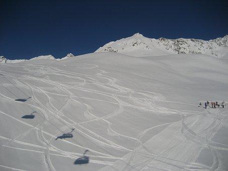 Chairlift, Sölden, Winter, Winter Sports, Snowboard