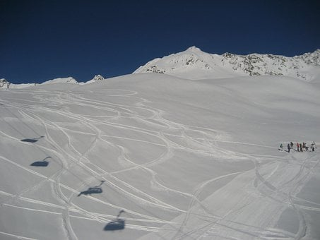 Chairlift, Sölden, Winter, Winter Sports, Snowboard