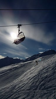 Ski Lift, Cable Car, Chairlift, Skiing, Winter Sports