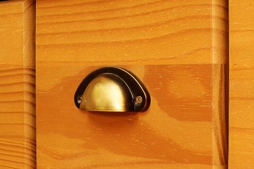 Knauf, Handle, Door Handle, Door Knob, Wood, Old