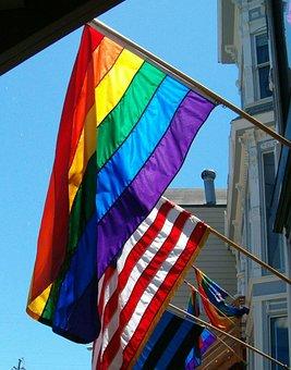 Rainbow, Flag, Gay, Friendly, Homosexual, Lgbt