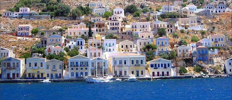 Symi, Greece, Island, Holiday, The Coast, Sea