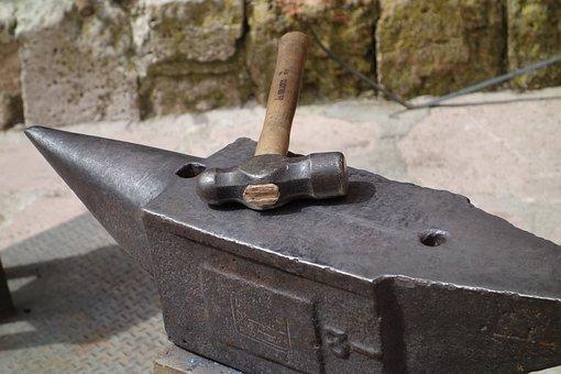 Anvil, Hammer, Herrero, Metal, Forging, Work, Craftsman