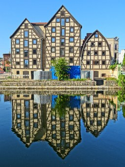 Bydgoszcz, Waterfront, House, Timber Framing