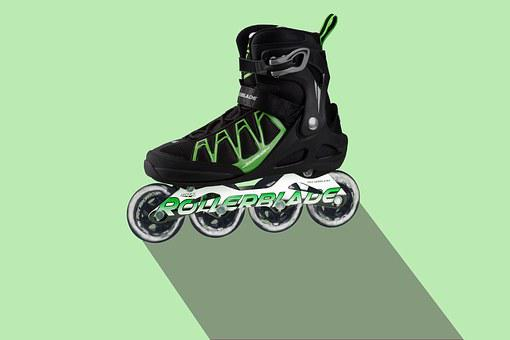 Inline Skate, Sport, Training, Shoe, Roll, Active