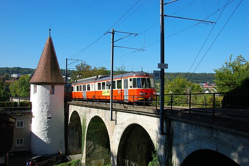 Switzerland, Bremgarten, Dietikon-bahn, Bridge