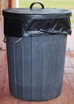 Garbage Can, Waste, Dustbin, Ton Of Plastic
