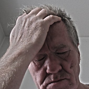 Stress, Man, Hand, Face, Old, Voltage, Burnout