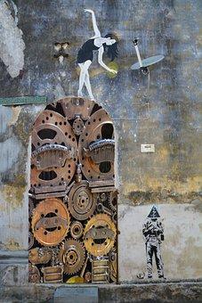 Steampunk, Gears, Cogs, Mechanical, Vintage, Machine