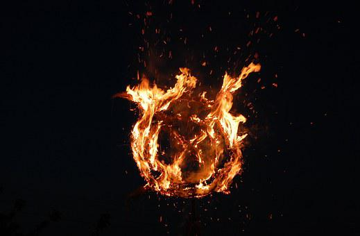 Koster, Fire, Flame, Astonishing, Around, Beautiful