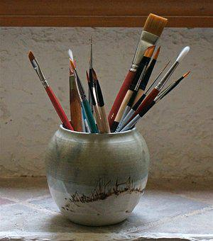 Paint Brushes, Watercolor, Art, Craft, Paint, Natural