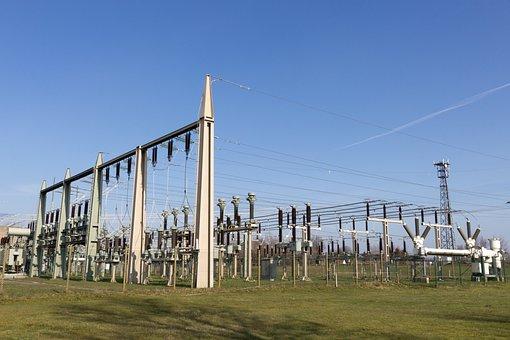 Electricity Power Plant, Current, Energy, Strommast