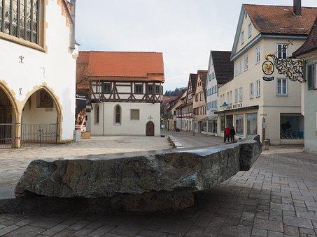 Steinplatte, Stone, Plate, Fountain Stone, Blaubeuren