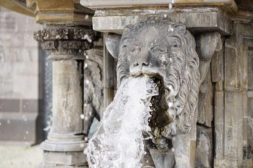Lion, Water, Gargoyle, Fountain, Water Fountain, Stone