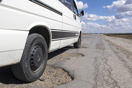 Pothole, Road, Kazakhstan, Hole, Asphalt, Repair