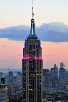 Empire State Building, At Sunset, Enlightened, New York