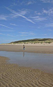 Landscape, Beach, Walk, Walk On The Beach, Dunes