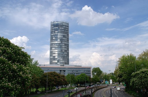 Tower, Streets, Traffic, City, Cologne, District
