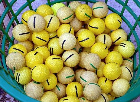 Practice, Golf Balls, Driving Range, Ball, Golf, Course