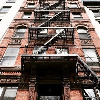Fire Escape, Walkup, New York, City, Apartment, Leader